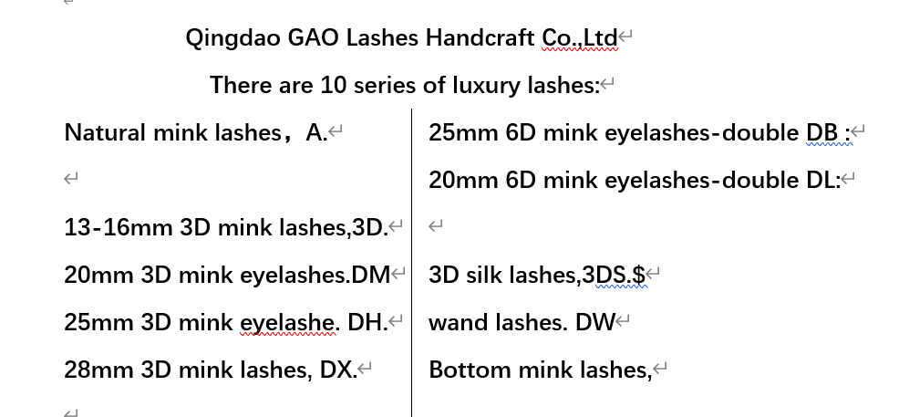 lashes series