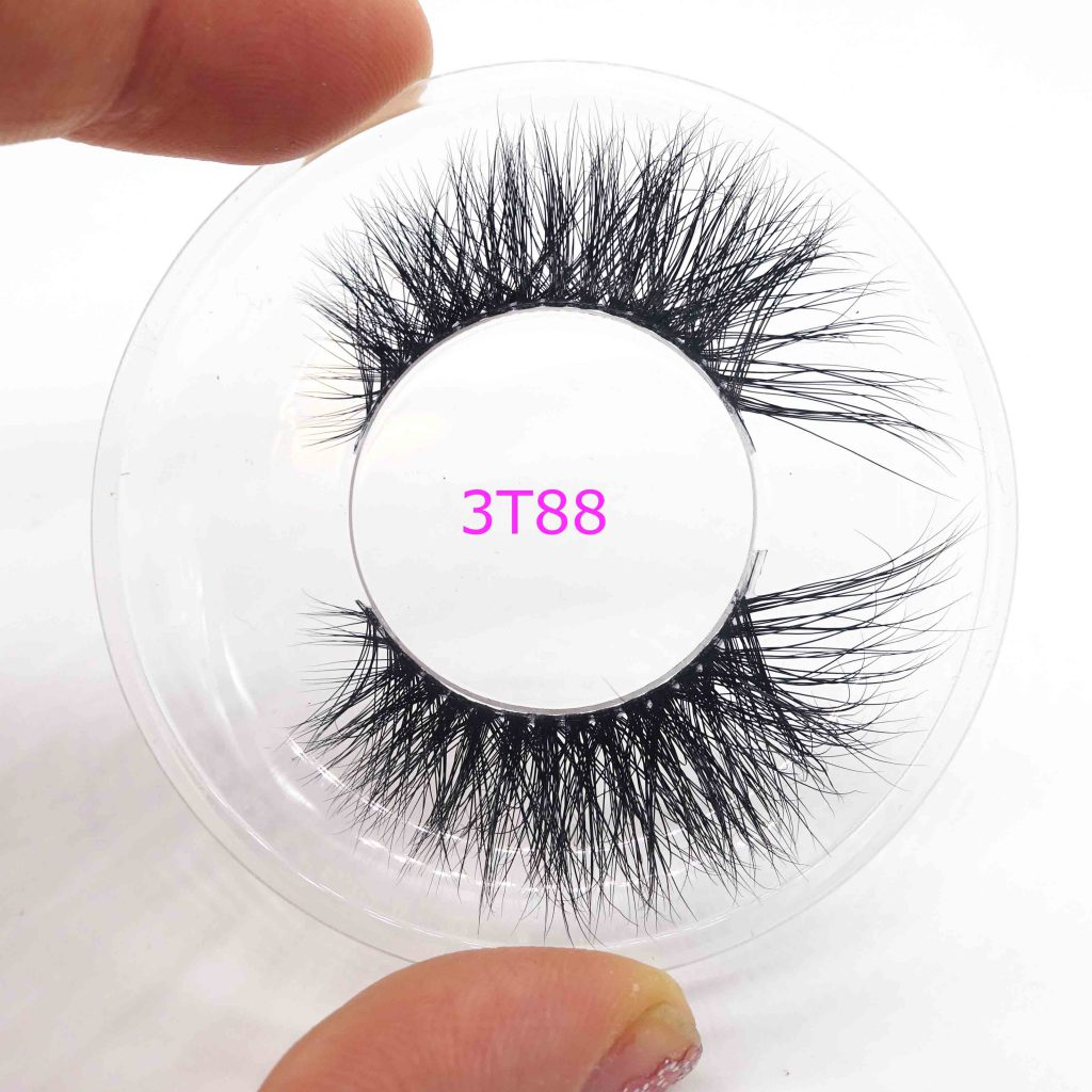 mink 3d lashes clear band