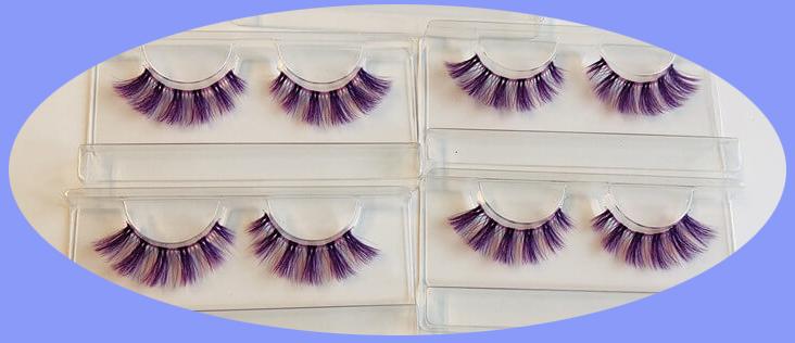 colorful eyelashes