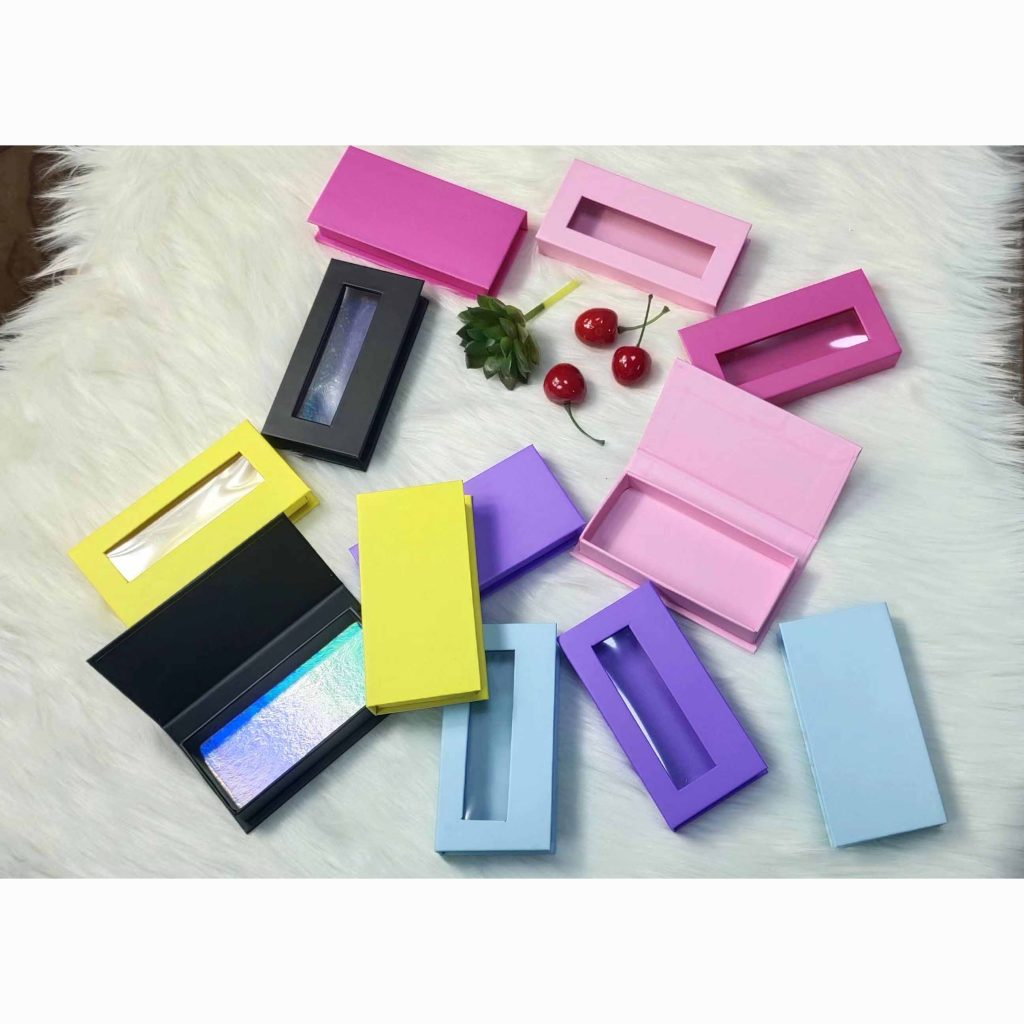 colorful eyelashes boxes