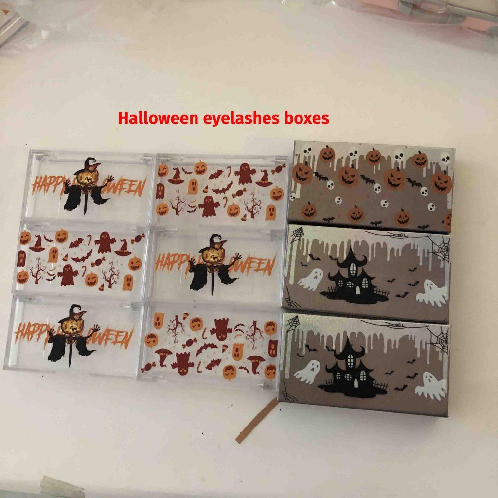 Halloween eyelashes- lashes boxes