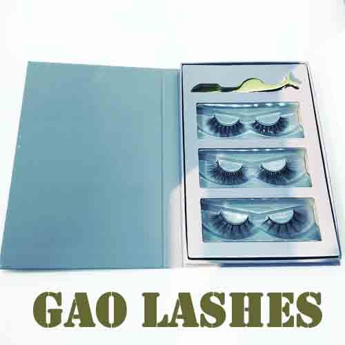 lashes and tweezers