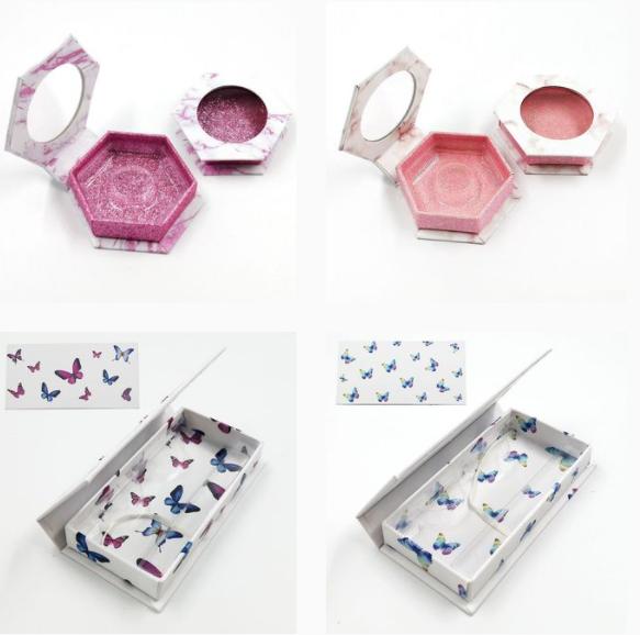 Hexgon lash boxes